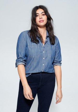 ESTRELLA - Button-down blouse - dunkelblau