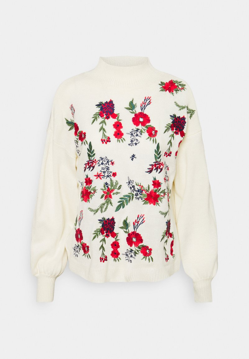 Missguided - FLORAL  - Jumper - cream