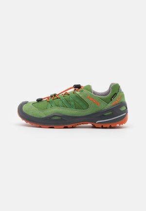 ROBIN GTX LO UNISEX - Hiking shoes - grün/orange