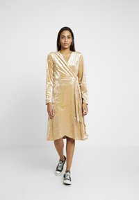 Monki - TUVA DRESS - Day dress - beige - 0