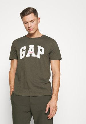 LOGO ARCH - T-shirt print - black moss