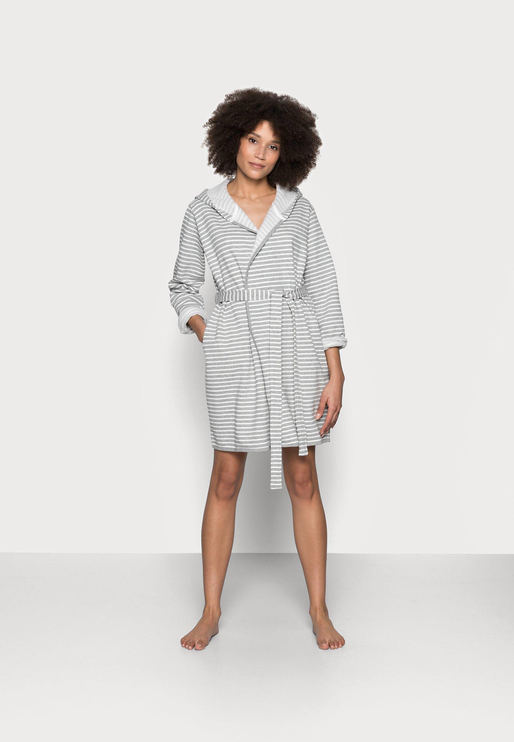 Women STRIPE FLANNEL BATHROBE  - Dressing gown