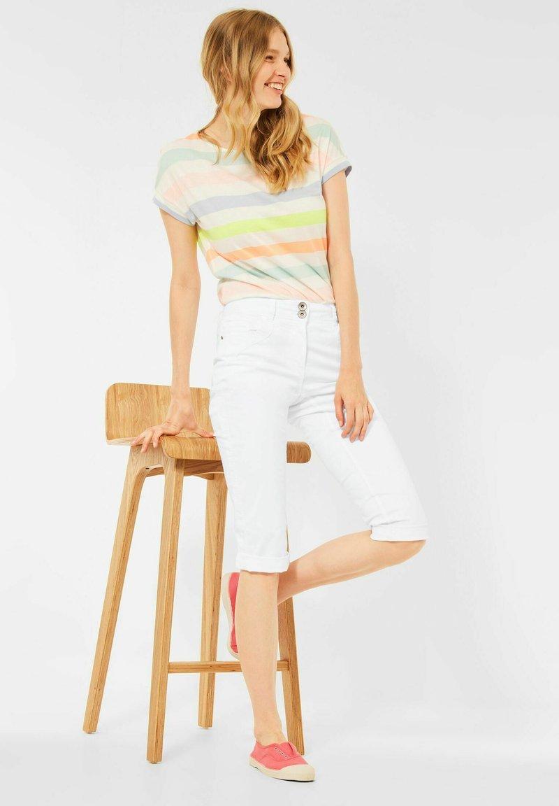 Cecil - Denim shorts - weiß