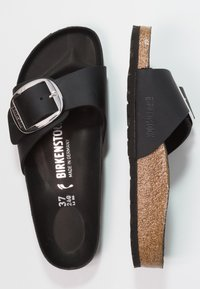Birkenstock - MADRID BIG BUCKLE - Chaussons - black - 1