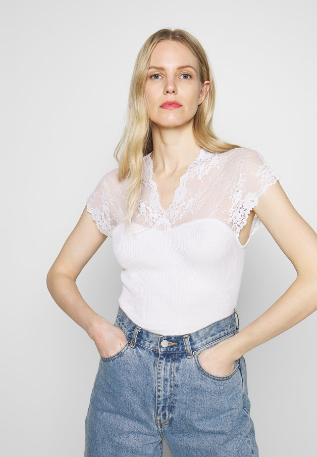 T-Shirt print - new white