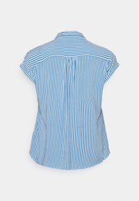 MY TRUE ME TOM TAILOR - SHORT SLEEVE - Button-down blouse - marina/white - 1