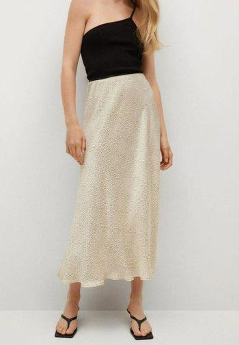 MIDI - A-line skirt - beige