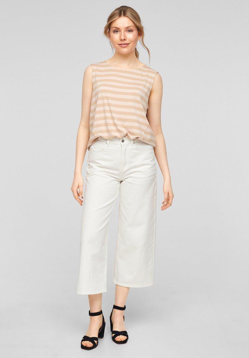 comma - Top - beige stripes