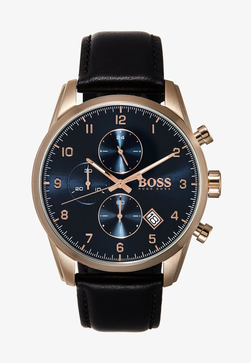 BOSS - SKYMASTER - Chronograph watch - black/ rose gold coloured