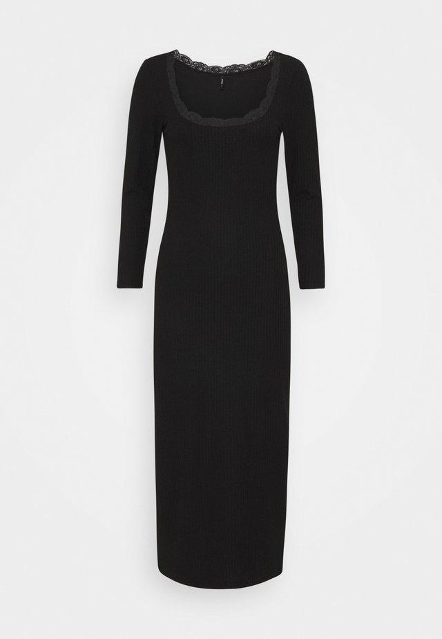 ONLNELLA O NECK LONG DRESS - Sukienka dzianinowa - black