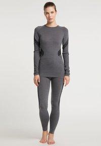 PYUA - Long sleeved top - grey melange - 1