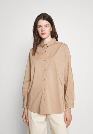 NADJA BLOUSE - Button-down blouse - desert