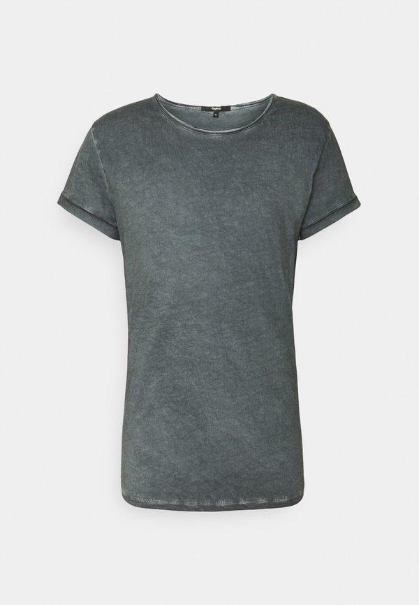 Tigha MILO - T-shirt z nadrukiem - vintage silver grey/ciemnoszary Odzież Męska PKQG