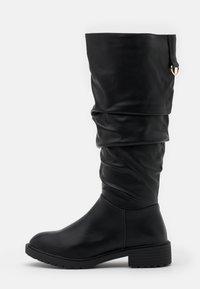 New Look Wide Fit - WIDE FIT CLOUD SLOUCH KNEE HIGH  - Laarzen - black - 1
