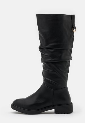 WIDE FIT CLOUD SLOUCH KNEE HIGH  - Boots - black