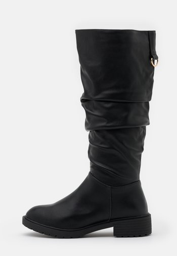 WIDE FIT CLOUD SLOUCH KNEE HIGH  - Vysoká obuv - black