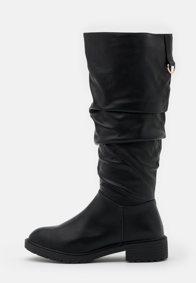 WIDE FIT CLOUD SLOUCH KNEE HIGH  - Støvler - black