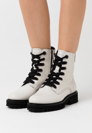 LICIA  - Platform ankle boots - offwhite