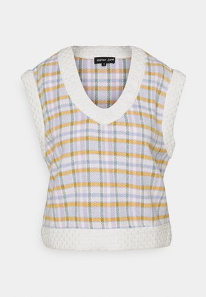 TAKE ME BACK CHECKED VEST - Neule - multi check