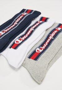 Champion - EURO TAPE CREW SOCKS 3 PACK - Sports socks - grey/white/navy - 2