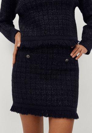 CHABELI - Mini skirt - dunkles marineblau