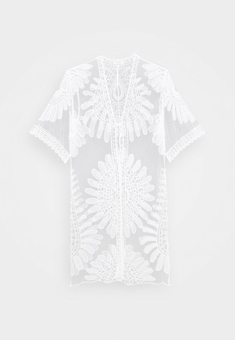 Cream - HUDINA KIMONO - Summer jacket - snow white