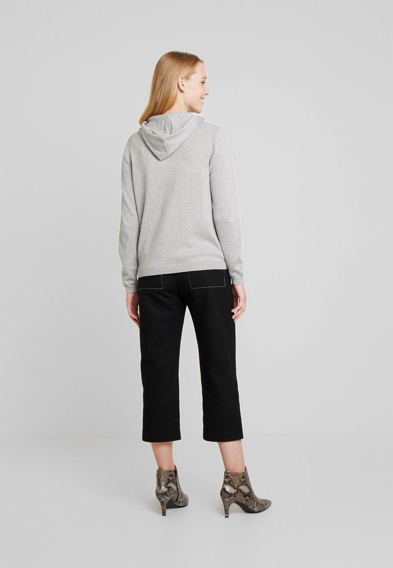 edc by Esprit ZIP HOODED - Strickjacke - light grey/hellgrau avAIL7