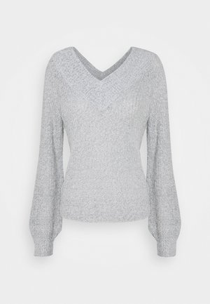 JDYNOLIA MEGAN OFFSHOULDER  - Pullover - cloud dancer/black