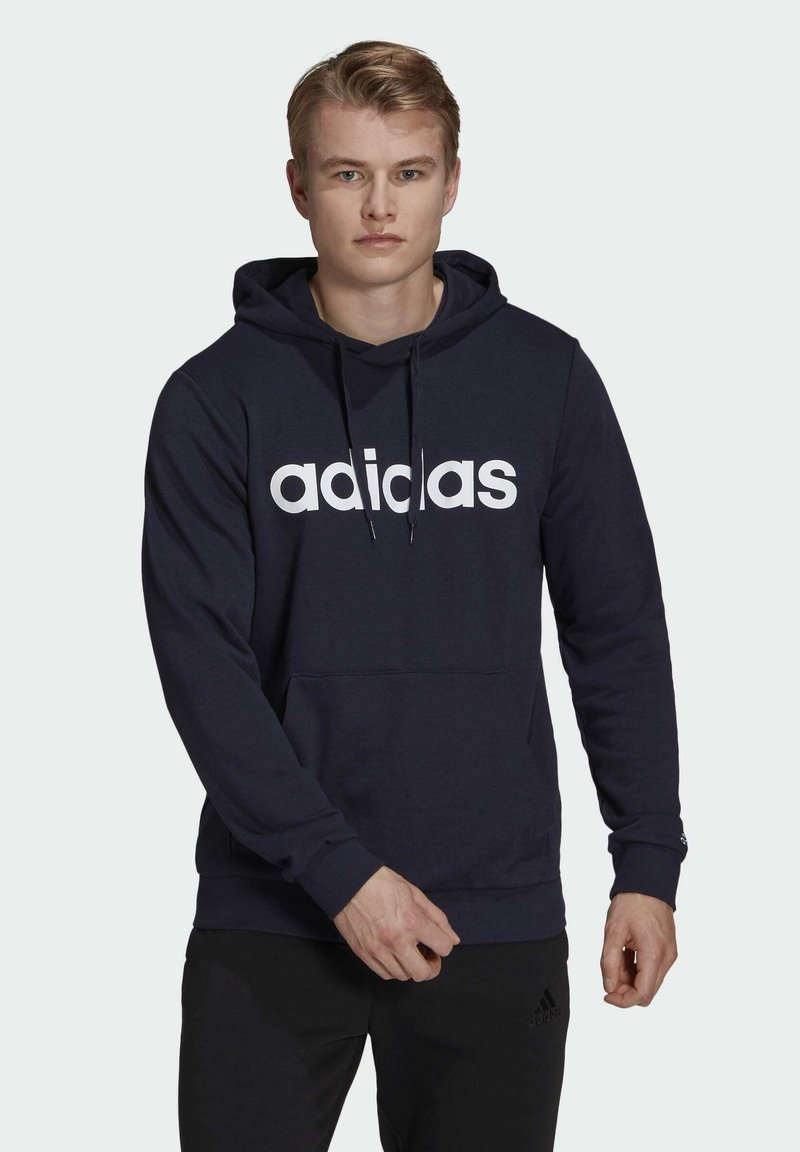 adidas Performance - ESSENTIALS FRENCH TERRY LINEAR LOGO HOODIE - Hoodie - blue