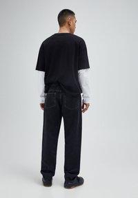 PULL&BEAR - Jeans baggy - mottled dark grey - 2