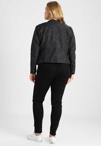 ONLY Carmakoma - CARAVANA - Faux leather jacket - black - 2