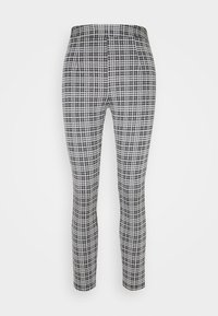 Even&Odd - Checked Leggings - Leggingsit - black/white - 6