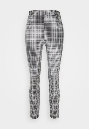Checked Leggings - Legíny - black/white