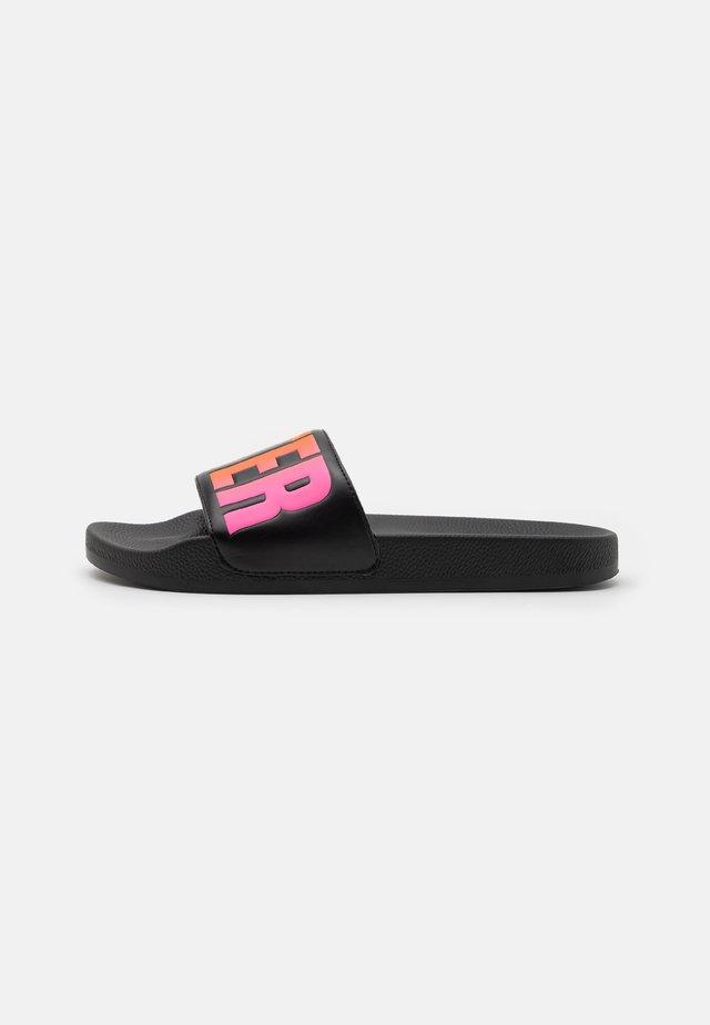LOGO SLIDE UPDATE - Pantofle - black/multicolor