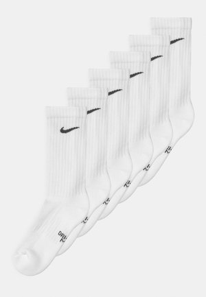 PERFORMANCE CUSHIONED CREW TRAINING 6 PACK UNISEX - Socks - white/black