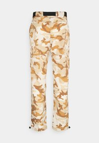 Karl Kani - SIGNATURE CAMO CRINCLE PANTS - Cargo trousers - beige/sand - 7