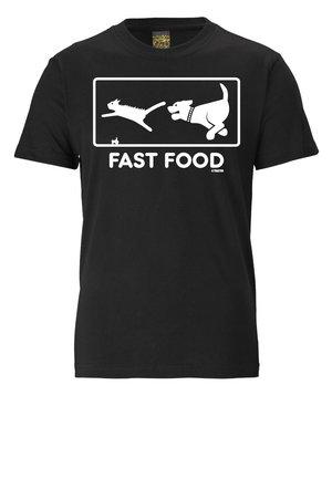 FAST FOOD - Print T-shirt - schwarz