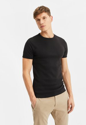 WE FASHION HEREN ORGANIC COTTON T-SHIRT - T-Shirt basic - black