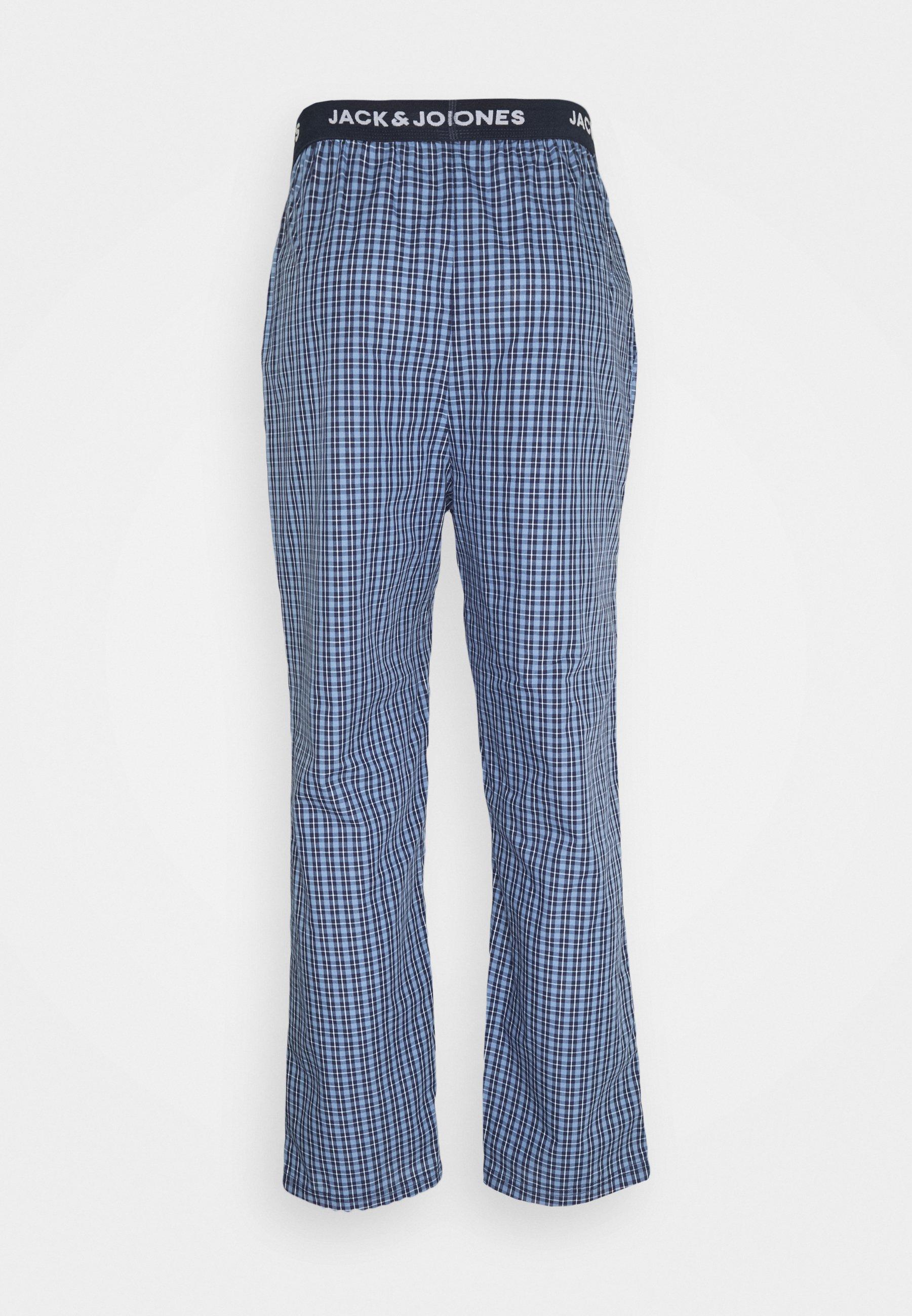 Homme JACBLUEISH CHECK PANTS - Bas de pyjama