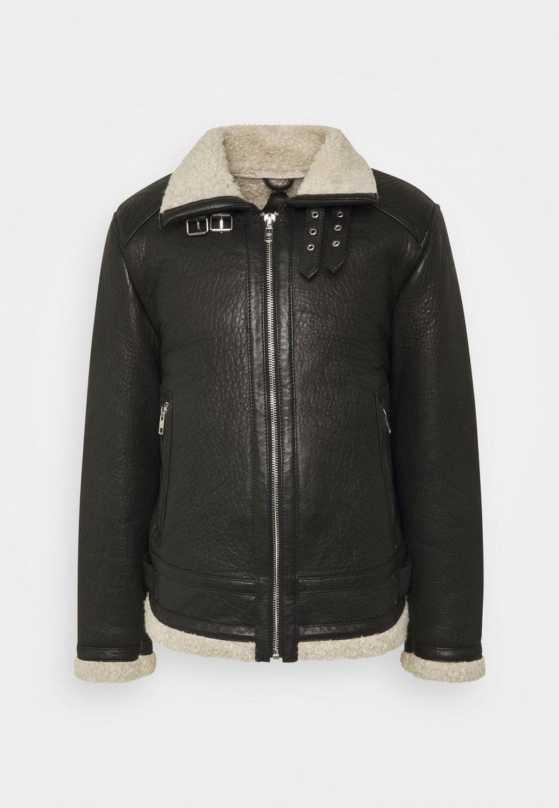 Be Edgy - AUSTIN - Leather jacket - black/white