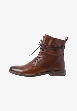 Lace-up ankle boots - chestnut antic