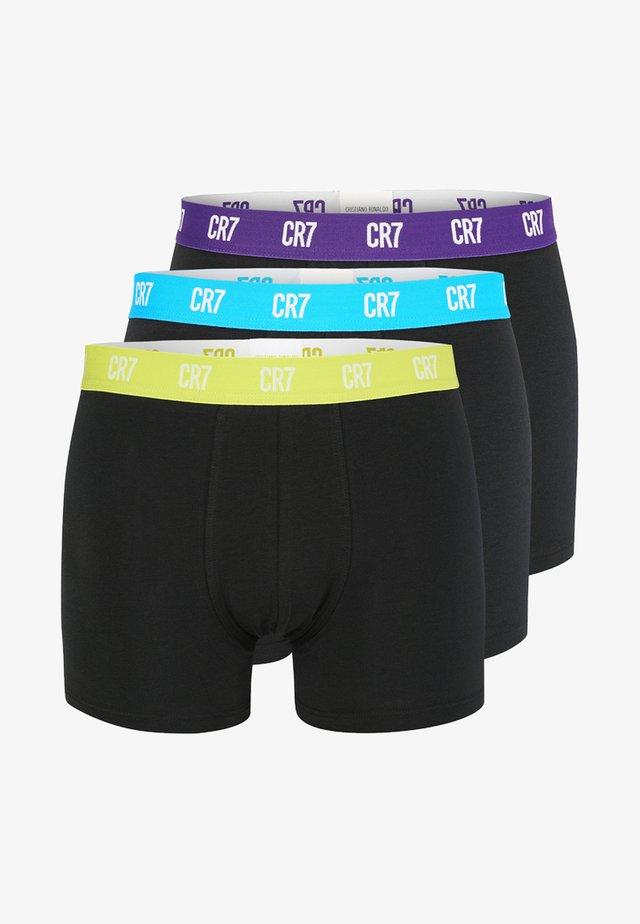 RETROSHORTS 3 PACK  - Boxer shorts - blau/grau melange/navy