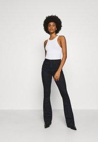 G-Star - 3301 HIGH FLARE - Flared Jeans - black metalloid cobler - 1