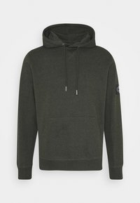 Calvin Klein Jeans - MONOGRAM BADGE GRINDLE HOODIE - Hoodie - deep depths - 0
