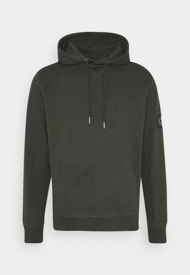 Calvin Klein Jeans - MONOGRAM BADGE GRINDLE HOODIE - Hoodie - deep depths