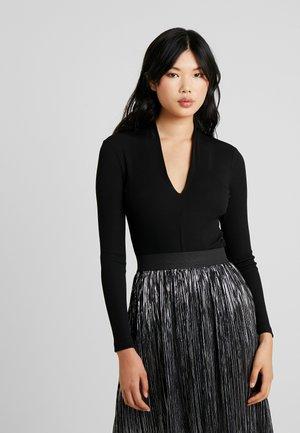 OBJMEGAN BODYSTOCKING - Long sleeved top - black