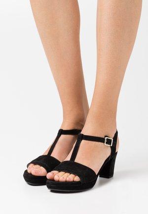 Platform sandals - schwarz/gold