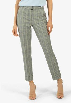 Trousers - grau/gelb/kariert