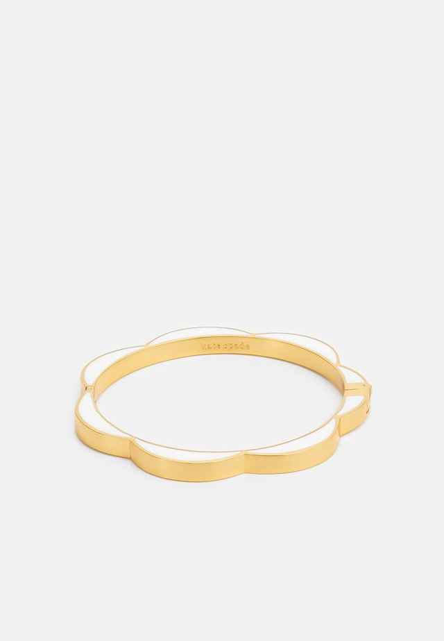 SLICED SCALLOPS BANGLE - Bransoletka - white