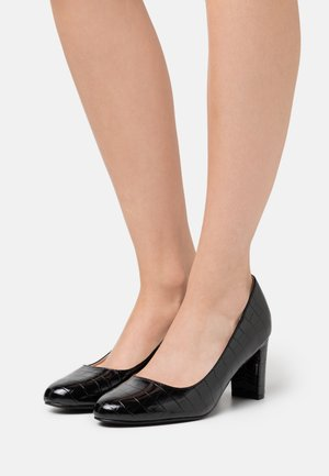 WIDE FIT DENVER ROUND TOE - Escarpins - black